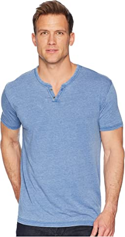 Lucky Brand Burnout Button Notch Shirt