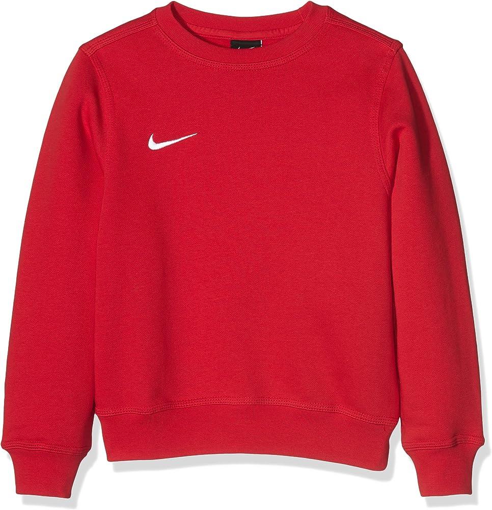 Nike team club crew, maglione girocollo a maniche lunghe, da bambino - ragazzo,in spugna francese 658941-451-XS
