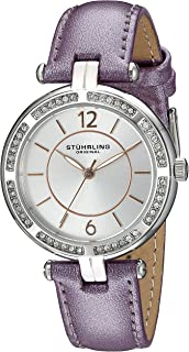 Stuhrling Original Women's 550.03 Vogue Stainless Steel Watch with Purple Band