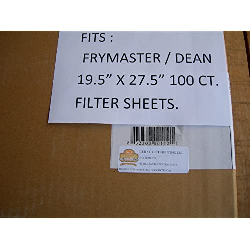 FRYMASTER Rectangle-Type Fryer Oil Filters Pack of 100 803-0170