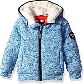 Ben Sherman Boys' Toddler Sweater Fleece Jacket, Heather