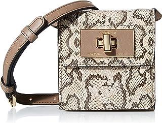 Calvin Klein Kiera Novelty Wallet Crossbody, Almond Safari Snake