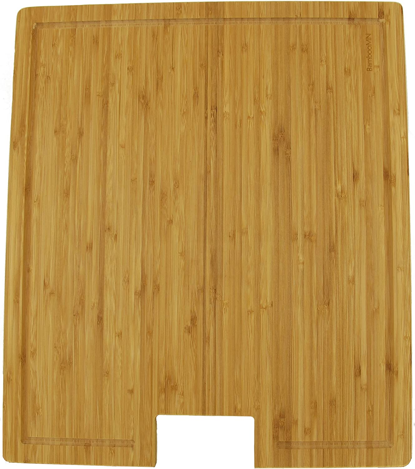 BambooMN Brand Bamboo Griddle Cover Cutting Board for Viking Cooktops, greenical Griddle Cover, Large (19 X 16.38  X 0.75 )