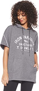 Under Armour Women's THE ROCK DOUBLE KNIT SS TUNIC HOODIE Hoodie