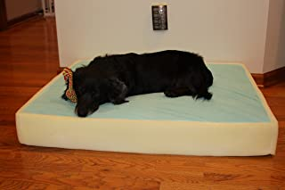 Memory Foam Dog Pet Bed Mattress Core with Gel, 6 inches Thick Made in USA