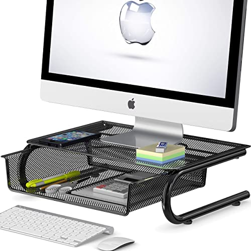 wholesale SimpleHouseware wholesale high quality Mesh Monitor Riser with Drawer online sale