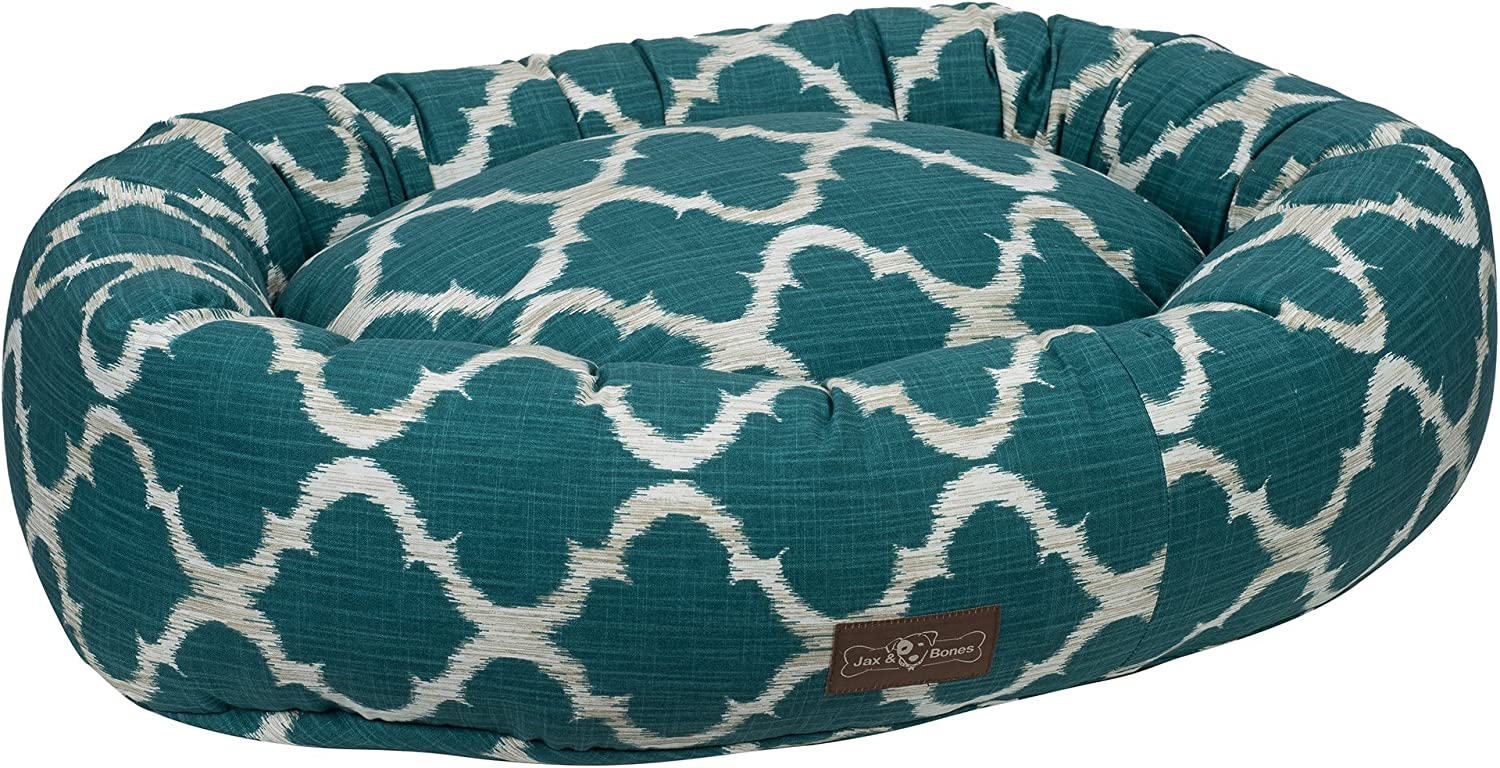Jax and Bones Monaco Oasis Everyday Cotton Donut Dog Bed, Small