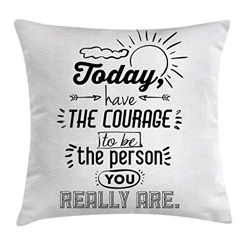 She Believed She Could So She Did KACOPOL Inspirational Quote Throw Pillow Covers Super Soft Short Plush Farmhouse Home Decor Pillow Case Cushion Cover with Words for Sofa Square 18x18 Inches