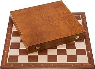 Square - Profesional Ajedrez de Madera Nº 6 - Caoba Lux - Tablero de ajedrez + Figuras - Staunton 6