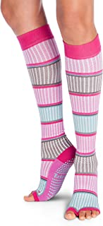 Tucketts Thigh Highs Knee High Yoga Socks, Toeless Long Socks for Pilates, Barre
