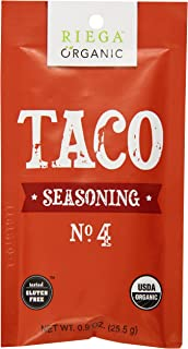 Riega Organic Taco Seasoning, 8 Count (Pack of 8)