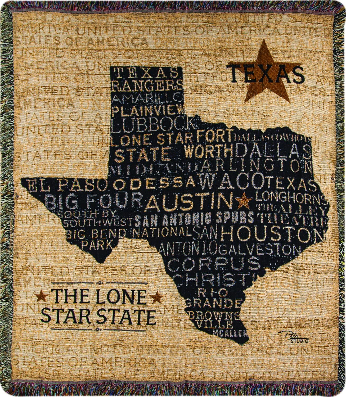 Manual Woodworkers Weavers Tapestry Luxury Throw 60 Texas Ranking TOP3 USA 50 x