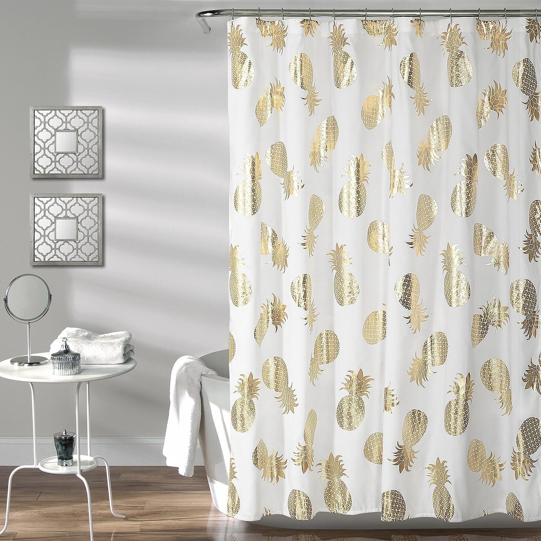 Quantity limited Lush Decor unisex Pineapple Toss Shower Curtain 72