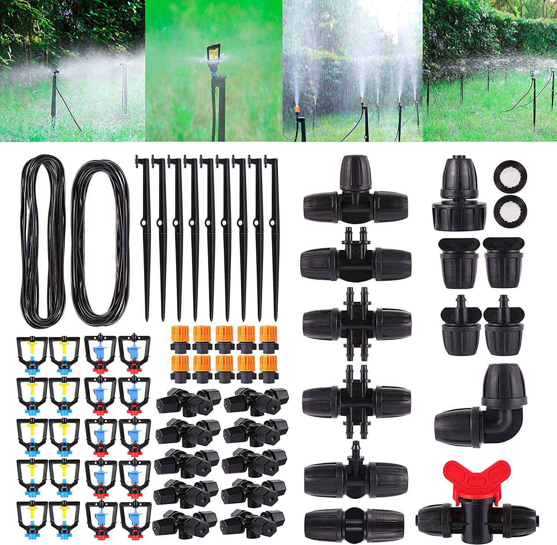 "FOGWOWO Garden safety Atomized drip Irrigation with 3 Gorgeous kit 26FT 8""a"