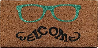 A1 Home Collections First Impression, Green Glasses Welcome Doormat, 18