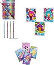 36 Adorable Mermaid Party Favors ~ 12 Make-Your-Own Mermaid Sticker Sheets ~ 12 Mermaid Pencils & 12 Mermaid Spiral Notebooks ~ Mermaid/Aquatic Theme Parties, Goody Bags, Giveaways, Classroom Prizes