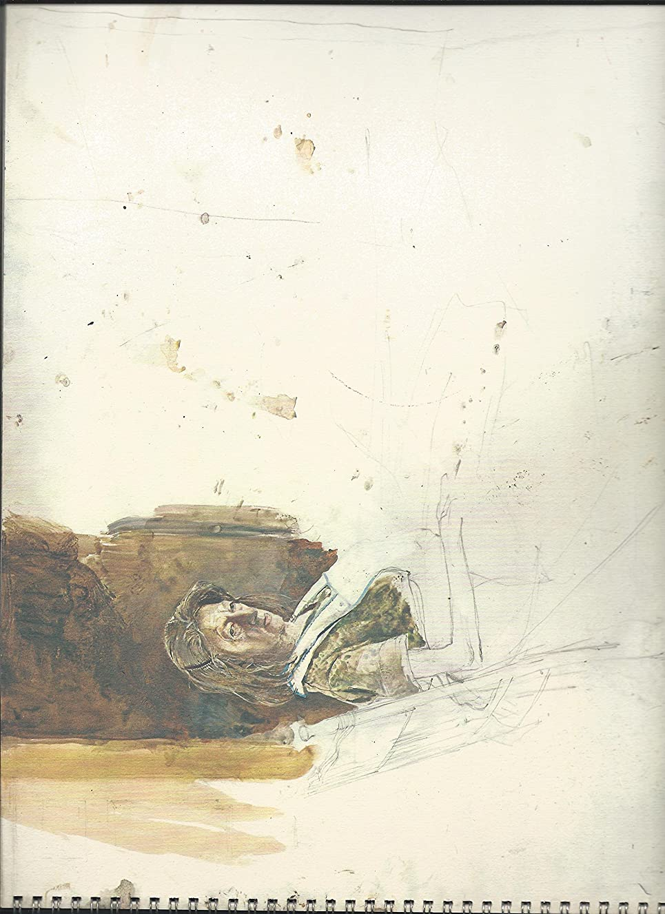 Working at Olsons Watercolors and Drawings by Andrew Wyeth from the Holly and Arthur Magill Collection