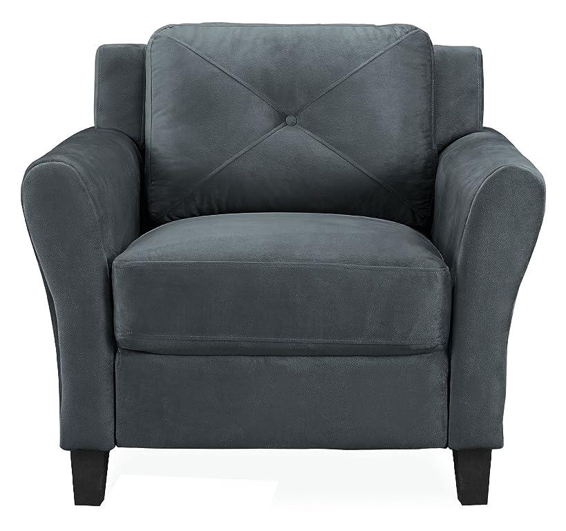 Lifestyle Solutions CC‐HRF‐KS1‐M26‐DG‐RA Harrington Chair in Grey, Dark Grey