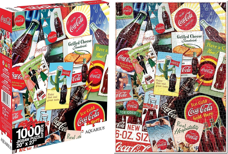 Aquarius Coca Cola Collage 1000-Piece Jigsaw Puzzle
