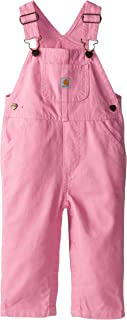 Girls' Little Washed Miscrosanded Canvas Bib Overall