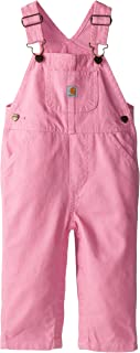 Carhartt Girls' Little Washed Miscrosanded Canvas Bib Overall