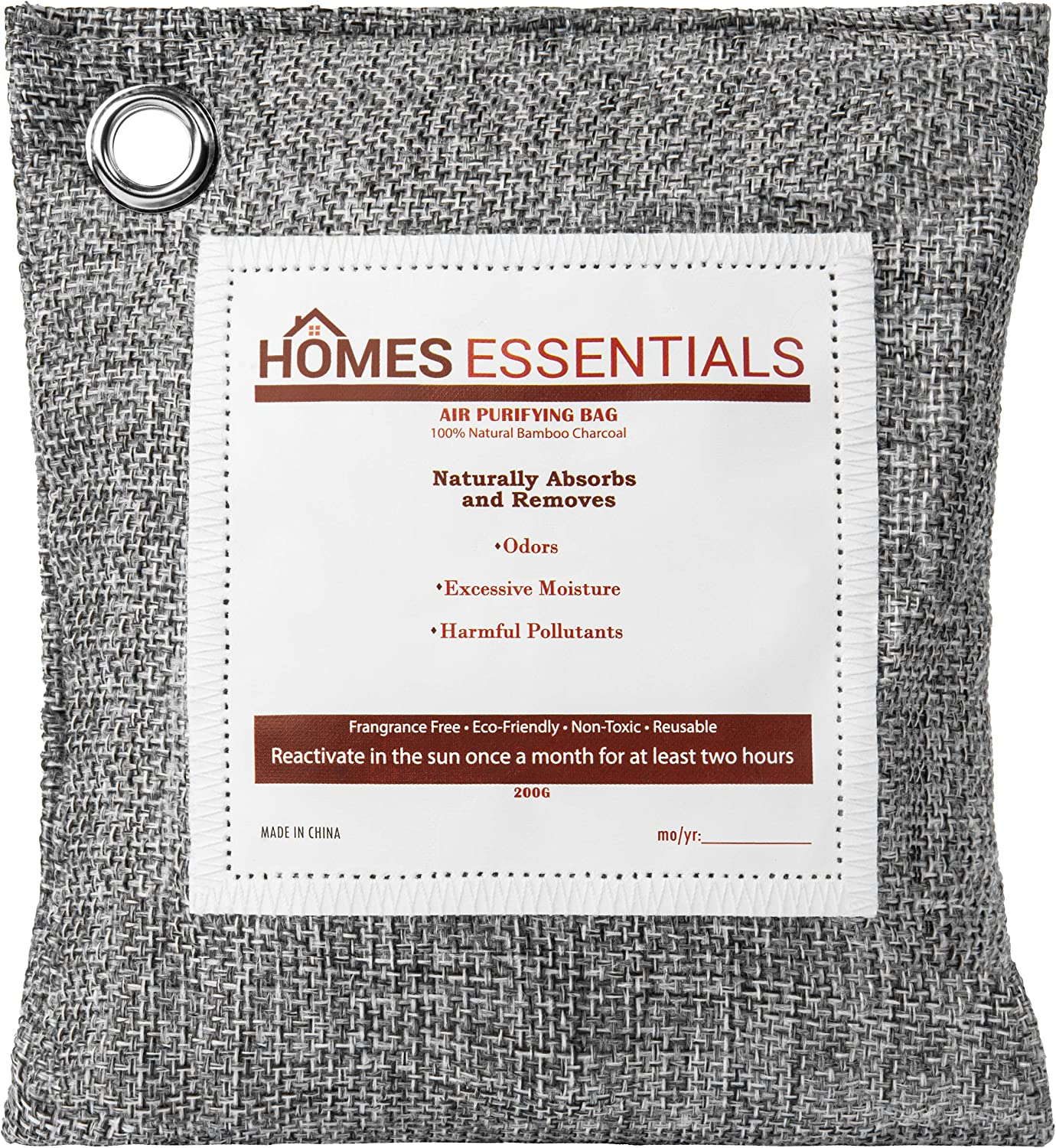 Homes Essentials Charcoal Odor Cash special price Eliminator In a popularity Bag 200g air - pack 3