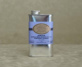 L.A. Gold Leaf Acrylic Topcoat Gloss (Outdoor/Indoor Use) 8oz.