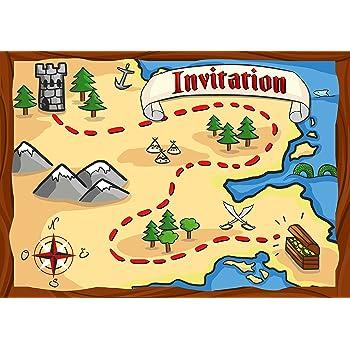 12 Cartes D Invitation Anniversaire Enfant Theme Les Pirates Cartes Invitations Filles Garcons Enfants Carte Invitation Carte Chasse Au Tresor Carte Recherche Du Tresor Carte Fete Des Pirates Amazon Fr Jeux Et Jouets