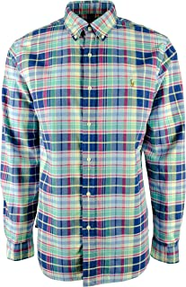 Ralph Lauren Mens Plaid Oxford Shirt