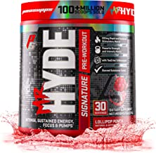 ProSupps Mr. Hyde Signature Series Pre-Workout Energy & Nitric Oxide Boosting Drink – Sustained Energy, Focus & Pumps with Beta Alanine, Creatine, Nitrosigine & TeaCrine – 30 Servings (Lollipop Punch)