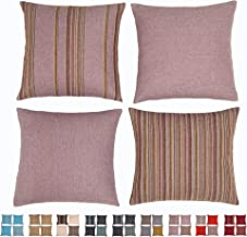 """HOMEPLUS Set of 2 Throw Pillow Cover Decorative Cushion Pillowcase for Bed Sofa Couch Car, 17""""X17"""", Mink"""