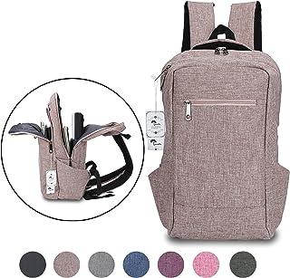 Laptop Backpack,Winblo 15 15.6 Inch College Backpacks Lightweight Travel Daypack – Mauve Pink