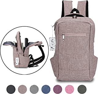 Laptop Backpack,Winblo 15 15.6 Inch College Backpacks Lightweight Travel Daypack - Mauve Pink