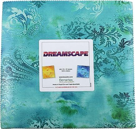 Benartex DREAMSCAPE 10-inch Precut Squares Cotton Fabric Quilting Assortment Layer Cake