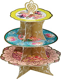Talking Tables Truly Scrumptious Tea Party Floral Cake Stand Height 36cm, 14