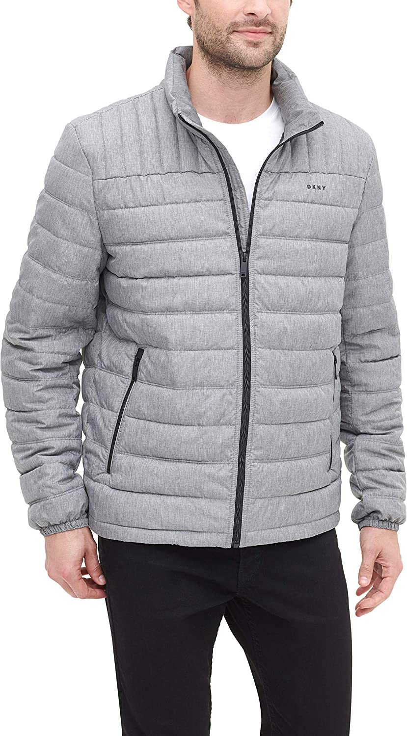 DKNY Men's Water Resistant Ultra Indefinitely Puffer Loft Ja OFFicial Packable Quilted