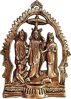 Akanksha Arts Ram Darbaar Gun Metal Wall Hanging Statue, Large Size (40 cm x 30 cm)