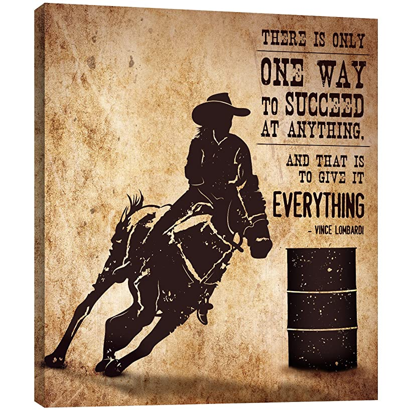 Tree-Free Greetings EcoArt Home Decor Wall Plaque, 11.25 x 11.25 Inches, Barrel Racing Themed Inspriational Art (81143)