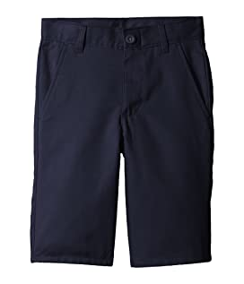 Slim Flat Front Twill Shorts (Big Kids)