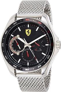 Ferrari Unisex-Adult Quartz Watch, Analog Display and Silicone Strap 830684