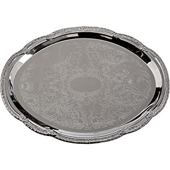 Winco CMT-1912 Oblong Tray with Integrated Handle Chrome Winco USA