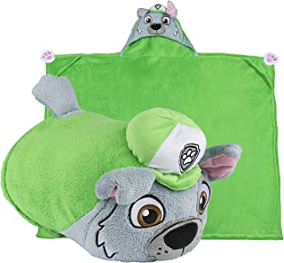 Comfy Critters Stuffed Animal Blanket – PAW Patrol Rocky – Kids Huggable Pillow and..