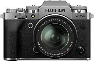 Fujifilm X-T4 Mirrorless Digital Camera, Silver Fujinon XF18-55 mm F2.8-4 R LM Optical Image Stabiliser Lens Kit