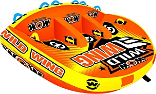 WOW Sports Towable Wild Wing Front and Back Tow Points Inflatable Raft
