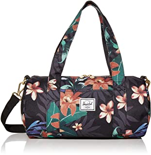 Herschel Sutton Duffel Bag, Summer Floral Black, Mini 7.0L