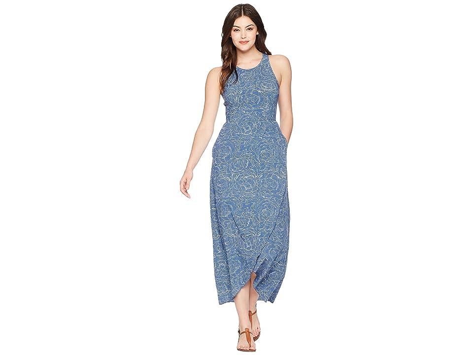 Toad&Co Sunkissed Maxi Dress (Blueberry Batik Floral Print) Women