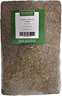 CERTIFIED ORGANIC Raspberry Leaf Cut and Sifted 1 LB Bag –100% NATURAL, KOSHER Berries (Rubus idaeus) (2-PACK)