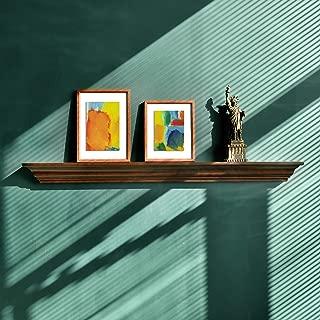 WELLAND Jefferson Crown Molding Floating Shelves Mantel Shelf (48-Inch, Espresso)