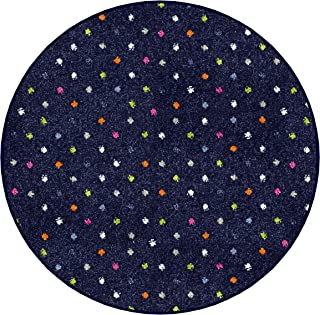 Kids Joy Polka Dot Pattern Luxury Area Rug Collection. Multiple Sizes and Colors to Choose from. Custom Sizing Available (4' Round, Party)