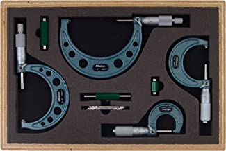 Mitutoyo 103-931 Outside Micrometer Set with Standards, 0-4